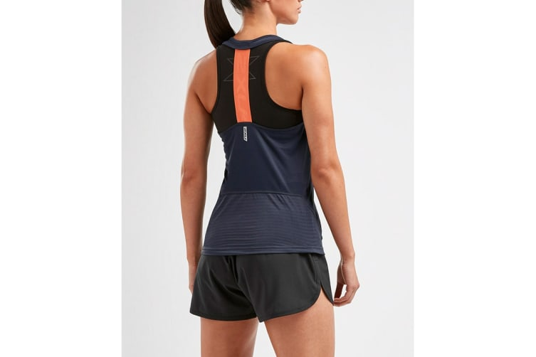 2XU Women's XVENT Singlet (Outer Space, Size L)