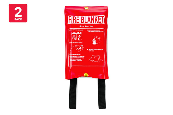 2 Pack Fire Blanket 1m x 1m