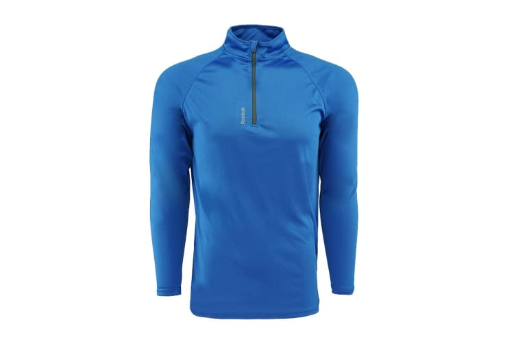 Reebok Men's Play Dry 1/4 Zip Jacket (Royal, Size S)