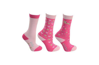 Little Rider Childrens/Girls Little Show Pony Socks (Pack Of 3) (Cameo Pink)