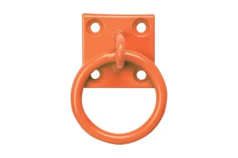 Perry Equestrian Chain Ring On Plate (Pack Of 2) (Orange)