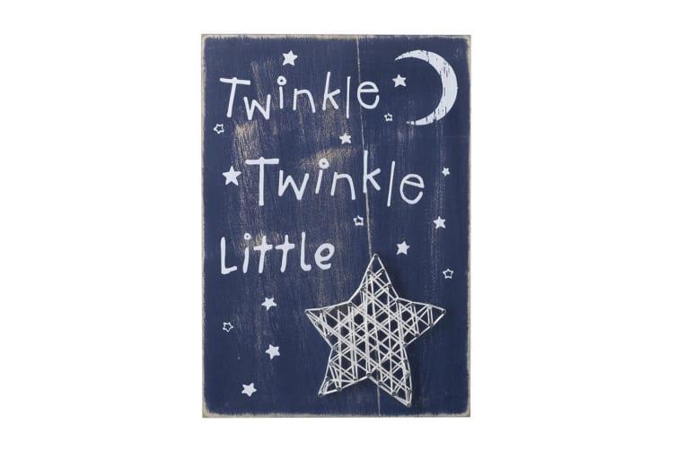 Twinkle Wall Sign (Midnight Blue) (20 x 30 x 1cm)