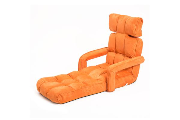 Lounge Sofa Microfiber Armchair Zig-Zag - ORANGE