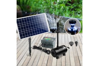 100W Solar Powered Pond Pump Battery Outdoor Fountains Submersible