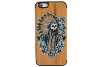 For iPhone 6S 6 Case Indian Skull Durable Modern Wooden Shielding Cover