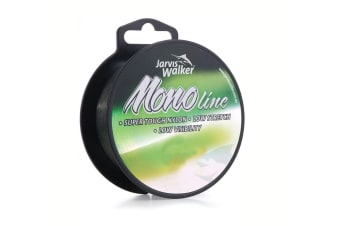 300m Spool of Jarvis Walker Monofilament Fishing Line - Dark Green Mono Line [Breaking Strain: 12lb]
