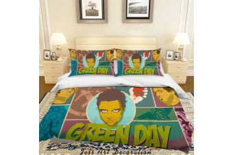 3D Rock Band Green Day Quilt Cover Set Bedding Set Pillowcases 56
