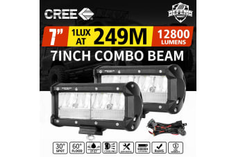 DEFEND 7inch CREE LED Work Light Bar Work Driving Lamp Combo OffRoad 4WD