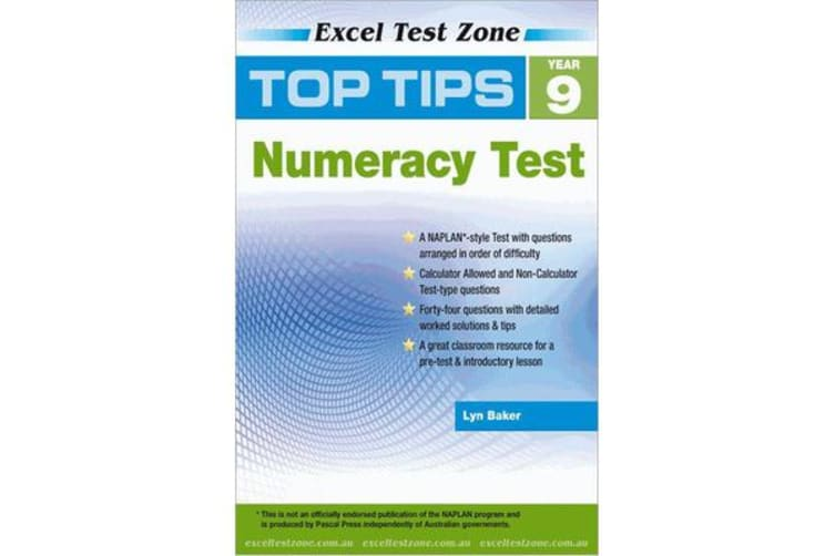 Excel Top Tips for Year 9 Numeracy Test