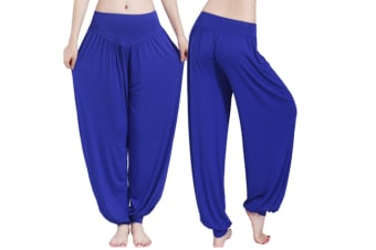 Womens Modal Cotton Soft Yoga Sports Dance Harem Pants  L