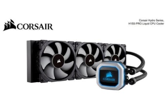 Corsair H150i PRO RGB 360mm Radiator, Triple 120mm ML Series PWM Fans, Advanced RGB Lighting Control. Intel 115x, Intel 2011/2066, AM3/AM2, AM4, TR4