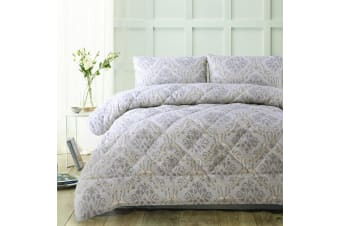 3 Piece Wales Natural Jacquard Comforter Set by Accessorize