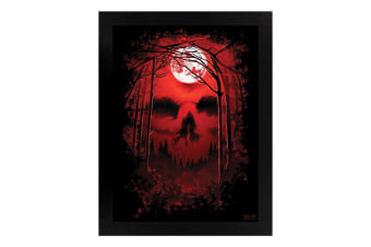 Requiem Collective Celestial Secret Wooden Framed Print (Black/Red)