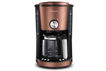 Morphy Richards Evoke 10 Cup Electric Filter Coffee Maker/Machine Bronze
