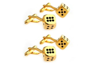 4pc SD Man Dice Men's Cloth/Shirt Wedding/Party Cufflinks Fashion Accessories GD