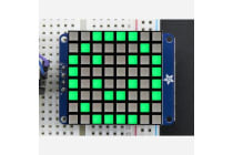 Small 1.2 8x8 Bright Square Pure Green LED Matrix + Backpack