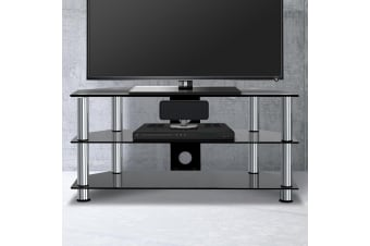 Artiss TV Stand Entertainment Unit Temptered Glass 3 Tiers