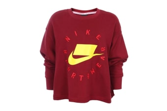 Nike Sportswear NSW Women's French Terry Crew (Team Red)