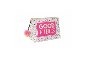Sweet Tooth Good Vibes Wash Bag (White/Pink)
