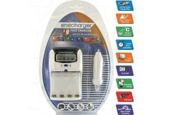 Enecharger automatic AC DC  USB Input 90Minute Fast charger AA  AAA NiMH Batteries