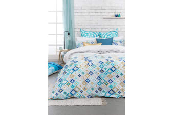 Bambury Mosaic Quilt Cover Set - 100% Cotton - Single