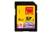 STRONTIUM Nitro Series 64 GB Ultra High Speed SDXC UHS-1 566X Card  up to 85MB/s