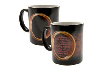 The Lord Of The Rings Heat Changing Ceramic Mug (Black/Multicoloured) (9 x 8cm)
