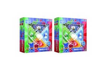 2PK PJ Masks Press O Matic Board Family Activity Fun Game Kids/Child Toys 3y+