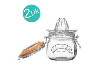 2PK Kilner 500ml Glass Juicer Citrus Press Storage Jar w  Lid Juice Container