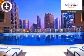 DUBAI: 7 Nights at Mercure Dubai Barsha Heights Including Flights for Two