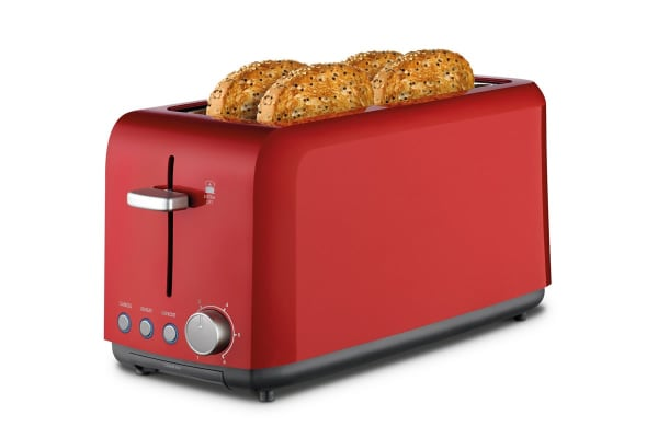 Kambrook Perfect Fit Wide Slot 4 Slice Toaster - Red (KTA140RED)