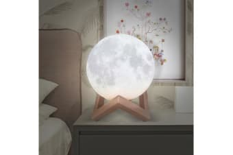 Dimmable 3D Magical Moon Lamp USB LED Night Touch Sensor Medium