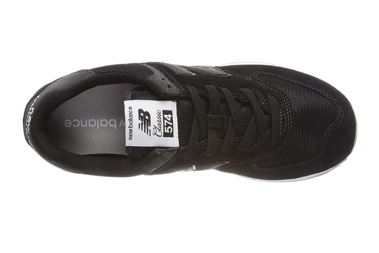New Balance Men's 574 Shoe (Black, Size 9.5)