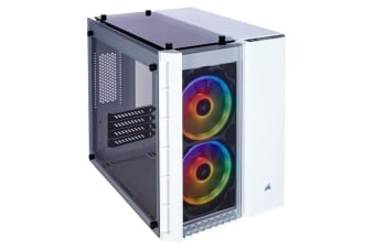 Corsair Crystal Series 280X RGB White mATX Gaming Case RGB Fans withTempered Glass