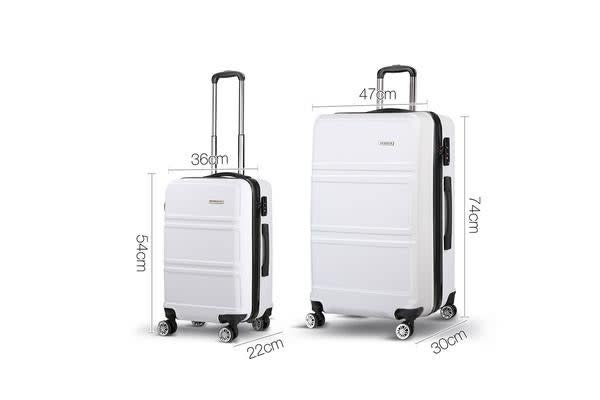 20inch and 28inch Lightweight Hard Suit Case with Hand Scale (White)