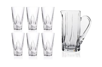 RCR Fluente Drink Highball Glasses Set of 6 and Jug