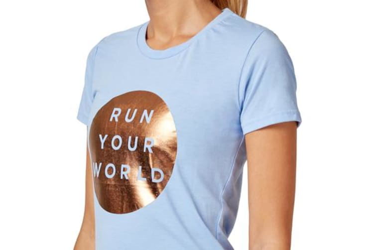 Saucony Run Your World Circle Tee (Serenity, Size S)