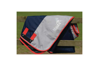 Masta Avante Light Standard Neck Turnout Rug (Navy/Grey) (5 ft 3)