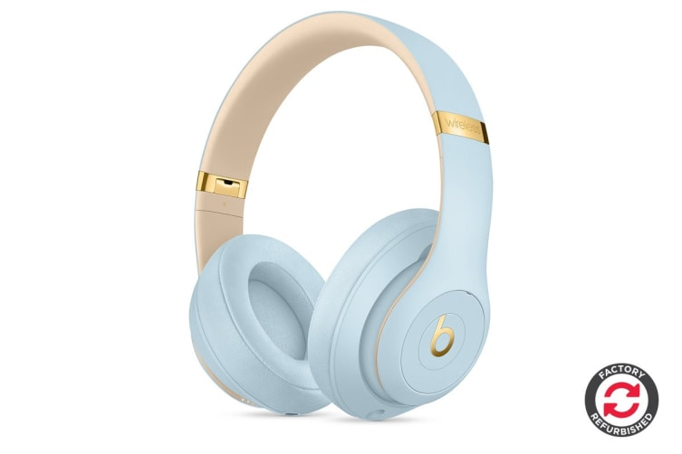 Beats Studio3 Wireless Over-Ear Headphones Refurbished (Crystal Blue) - A- Grade