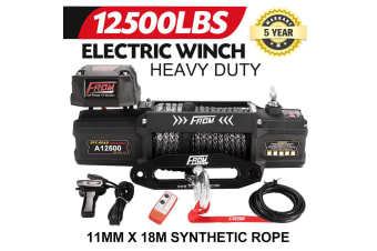 FORM 12500LBS Electric Winch12V Wireless Synthetic Rope Remote 4WD ATV BOAT TRUCK