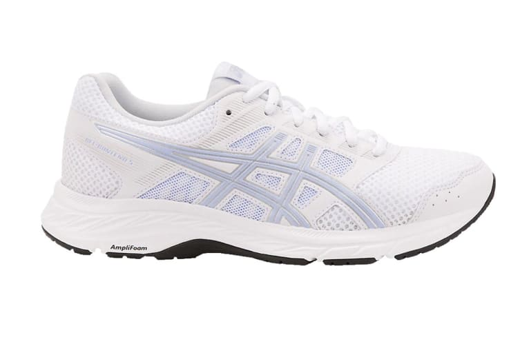 ASICS Women's GEL-Contend 5 Running Shoe (White/Vapor, Size 8)