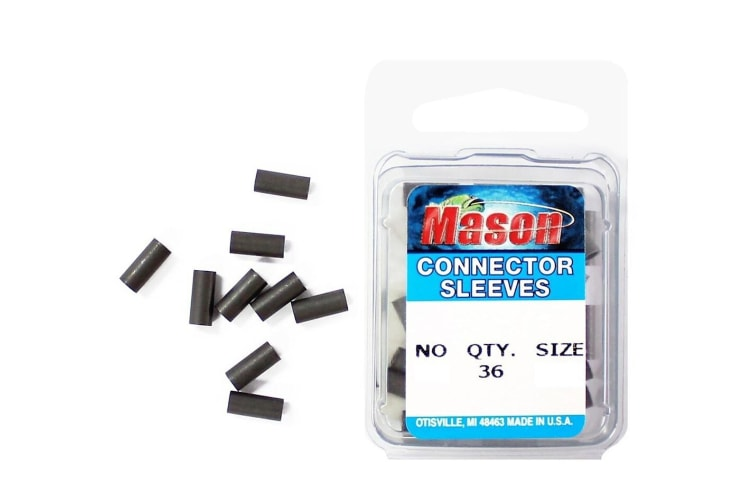 36 x Size 7 Mason Crimps - Crimping Connector Sleeves for Fishing Wire/Line