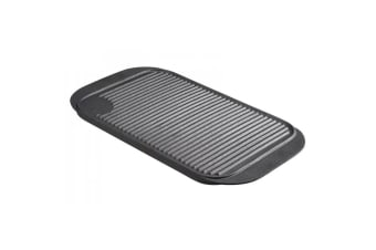 Pyrolux PyroCast 48cm Cast Iron Rectangular Grill Tray Induction w  Handles Grey