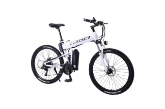 "TAOCI 350W 36V HM Mountain Motorized Bicycle Road Electric Bike eBike 26"" White"