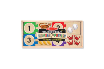 Melissa and Doug Numbers Wooden Puzzle Cards