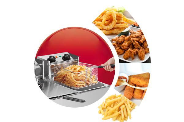 Electric Deep Fryer - 20L Dual Frying Baskets with Timer