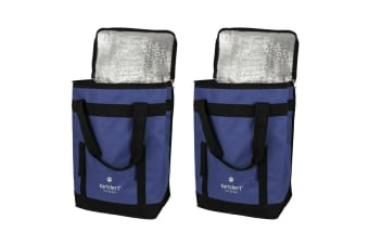 2PK Karlstert Sort & Carry Insulated Picnic Lunch Cooler Shopping Storage Bag BL