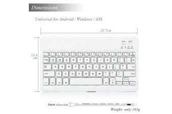 AU For Universal All iPad White Bluetooth Keyboard