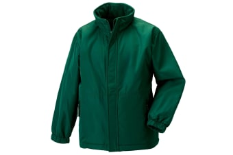 Jerzees Schoolgear Childrens Reversible Showerproof Jacket (Bottle Green)