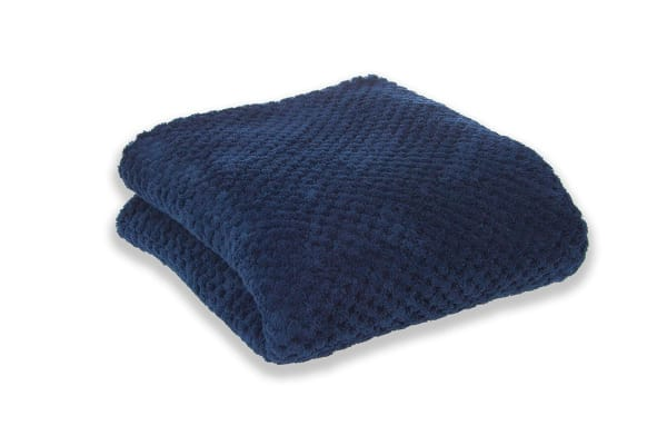 Apartmento Diamond Fleece Blanket Indigo (Single)